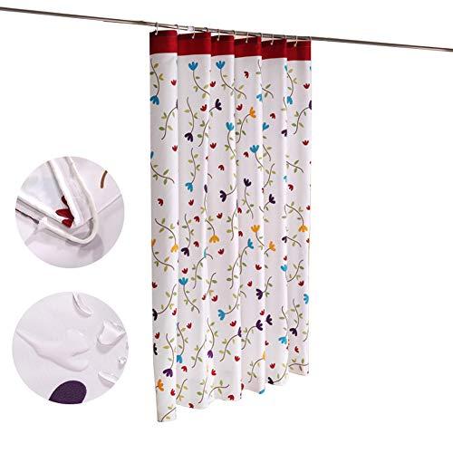 WLNKJ Duschvorhang Mit Schimmelbefall, Wasserabweisende Duschvorhänge, Verdickter Badvorhang Und Schimmelbeständiger Badvorhang Aus Polyestergewebe,80 * 180cm