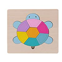Koojawind 3D Wooden Puzzle Learning Kids Children Wooden Puzzles, Early Educational Puzzle Toys, Wooden Shape Sorter Sorting Puzzle, Educational Tool Best Birthday Present for Boys Girls