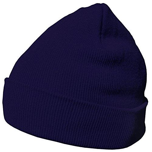 DonDon Wintermütze Mütze warm klassisches Design modern und weich navyblau