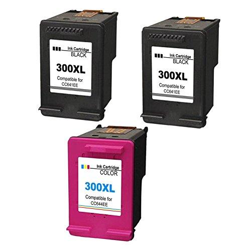 Foto de Kyansin 3XL Cartuchos de Tinta Remanufacturados 2 Negro HP 300XL/1 Tri-Color HP300 XL Reemplazar para HP DeskJet 1510 OfficeJet 2620 All-in-One Impresora Envy 4500 OfficeJet e-All-in-One Impresora