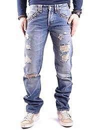 Galliano Herren MCBI130084O Blau Baumwolle Jeans