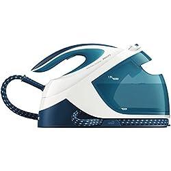Philips GC8715/20 - Centro de planchado, sin ajustes de temperatura, 6 bares, 1,8 l, auto apagado, color azul