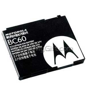 Motorola Original Equipped Manufactured OEM Battery for Razr V3x Slvr L6 L7 L2 (BC60 SNN5768)