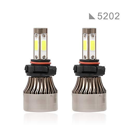 ACCDUER Ampoule de Phare de Voiture, 6500K 36W 8000LM LED Ampoule de Phare, COB Chips Voiture Tout-en-Un kit de Conversion projecteur Super Lumineux, 2 Pack