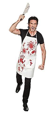 Halloween Accessoire - Blutige Schürze (Blutige Kettensäge)