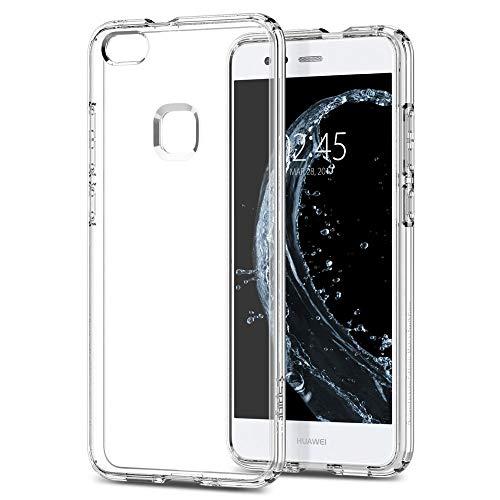Huawei P10 Lite Hülle, Spigen® [Liquid Crystal] Luftpolster Eckenschutz [Crystal Clear] Transparent Handyhülle Robuste Flex TPU Durchsichtig Silikon Schutzhülle für Huawei P10 Lite Hüllen Case Cover (L14CS21509)