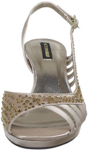Victoria Delef  SANDALS,  Scarpe con cinturino alla caviglia donna Oro (Gold (NUDE))