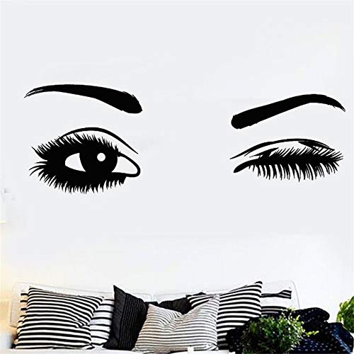 cal Wink Schöne Mädchen Augen Wandaufkleber Augenbrauen Augen Make Up Beauty Salon Decor Mädchen Auge Wink Wandbild ()