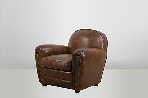 Casa Padrino luxury leather armchair Vintage Cigar Brown - club (Leather Club Chair)