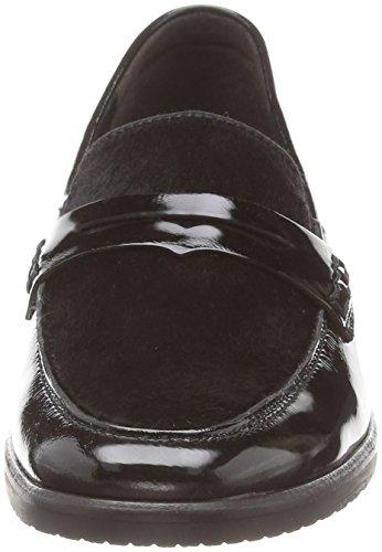 Gabor Star, Mocassins femme Noir - Black (Black Patent/Suede)