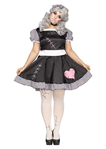 Damen Kostüm Broken Doll Zombie Outfit Halloween ()