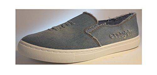 3-W-Hohenlimburg , chaussons d'intérieur femme Bleu couleur de jeans.