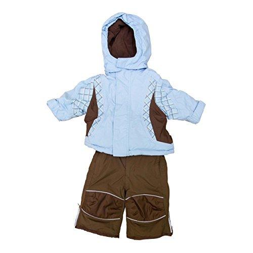 baby-snow-suit-6-12-months-ski-jacket-salopettes-pants-weather-resistant-light-blue-brown-by-tchibo