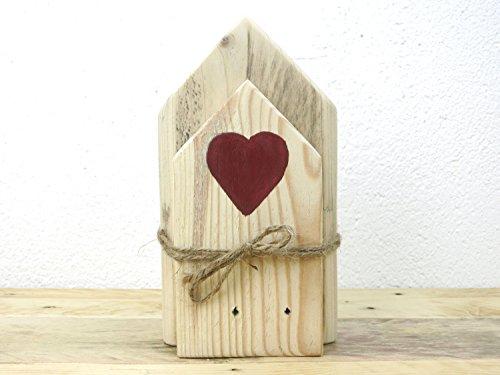Holzhäuser Deko by Kellerherz Shabby Chic Holzhaus Dekoration aus Palettenholz mit Herz
