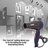 Ventilateur à faible bruit 220V EU de vent chaud de sèche-cheveux de la poignée pliable portative de la poignée 1500W