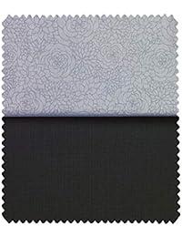 ab4b19bfd Raymond Men s Blackish Grey Self Design Trouser Fabric with Fabio Rossini  Light Grey Cotton Jacquard Shirt