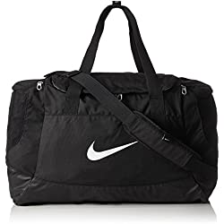 Nike Club Team Swoosh Duffel M Bolsa de Deporte, 53 cm, 52 Liters, Negro (Schwarz)