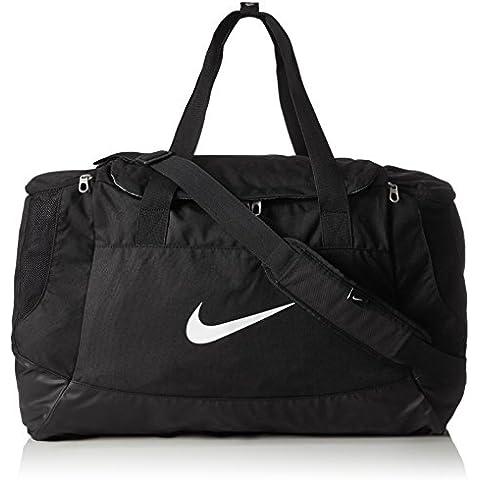 Nike Club Team Swoosh Duff M - Bolsa para hombre, color negro / blanco, talla única