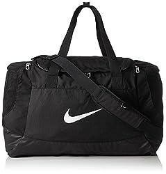 Nike Unisex Sporttasche Club Team Swoosh, black/white, 53 x 37 x 27 cm, 52 Liter, BA5193-010