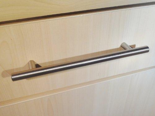 20 maniglie da cucina a T in acciaio spazzolato, dimensione 192 mm da un foro all'altro