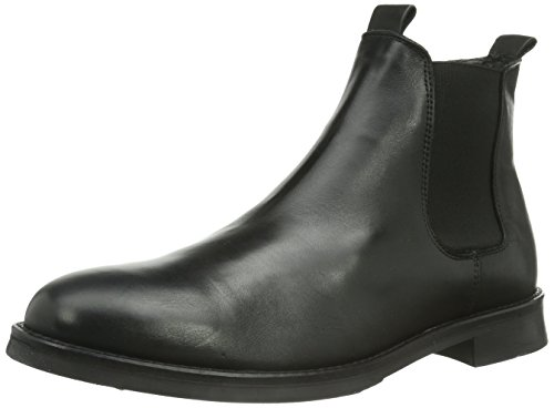 Selected Sel Marc Boot Noos Id, Bottes Chelsea courtes, non doublées homme Noir - Noir