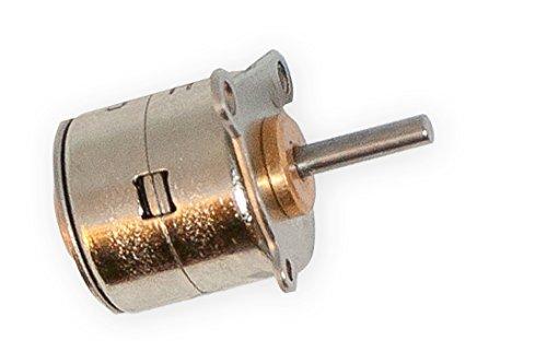 DC 5V 2 Phasen 4 Wire 15MM Dia Micro Mini Stepper Motor Metal Copper Gear for Arduino, Raspberry Pi Prototyping