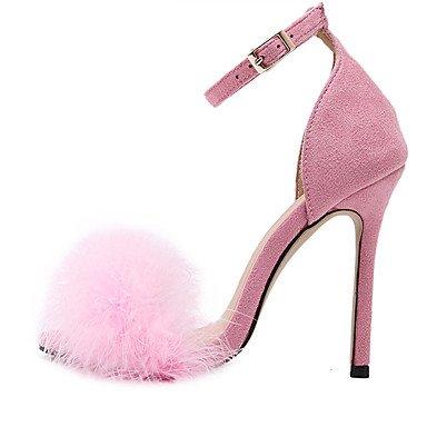 LvYuan Da donna-Sandali-Formale-Altro-A stiletto-Tessuto-Nero Rosa Borgogna Tessuto almond Burgundy