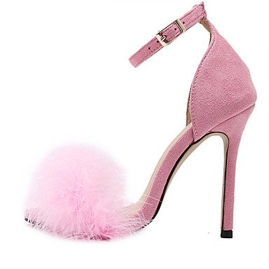 LvYuan Da donna-Sandali-Formale-Altro-A stiletto-Tessuto-Nero Rosa Borgogna Tessuto almond Pink