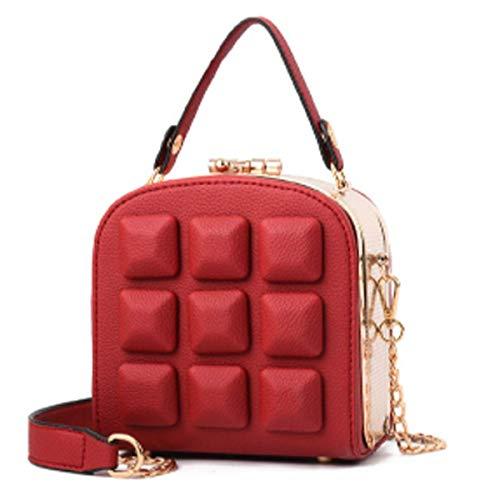 2018 Baby Frauen Handtaschen Umhängetasche Kette Schultertaschen Mode Mini Taschen Lingge Handtaschen28x16x8cm,BlackLightGoldLarge-OneSize Baby Girls Pink Check