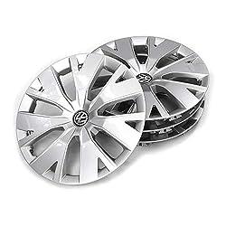 Volkswagen 2GM071456 Wheel Trims Set of 4 Steel Rims 16 Inches Brilliant Silver