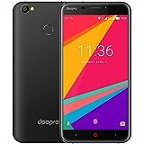Handy Ohne Vertrag, DOOPRO P2 Dual Sim Smartphone 3G (5,5 Zoll HD IPS Display, 8 GB interner Speicher, 5 MP + 2 MP Kamera, Fingerabdruckscanner, 5200mAh, Android 7.0) Schwarz