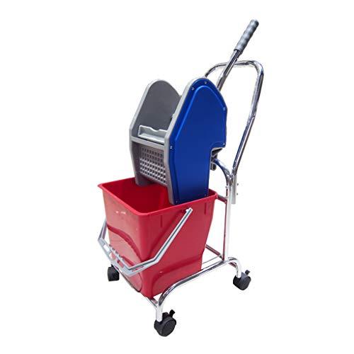 Stcg-l hotel mop bucket, 40 * 40 * 75cm - multifunzione famiglia creativa ristorante pulizia auto carrello spremere secchio d'acqua (dimensioni : 40 * 40 * 75cm)