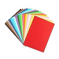 100 قطعة من ورق الأورجامي للأطفال بلون سادة ملون يدوي الصنع من توي فيان، ورقة ورقية قابلة للطي لمستلزمات المكتبية المدرسية المكتبية (مختلط الألوان)