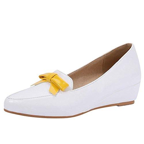 Misssasa Donna Elegant Chaussures Blanc