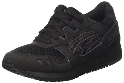 Asics Unisex Adults' Gel-Lyte III Trainers, Black (Black/Black), 8 UK 42.5 EU
