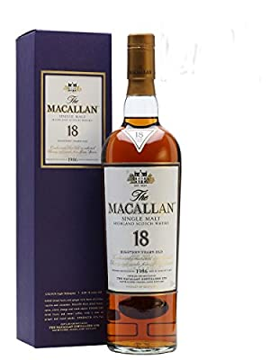 The Macallan 1997 18 Year Old Sherry Oak Highland Single Malt Scotch Whisky 70cl Bottle