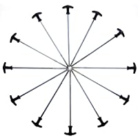 Qeedo Spiralheringe Light T-Pegs, Zelthering Stahl 30 cm