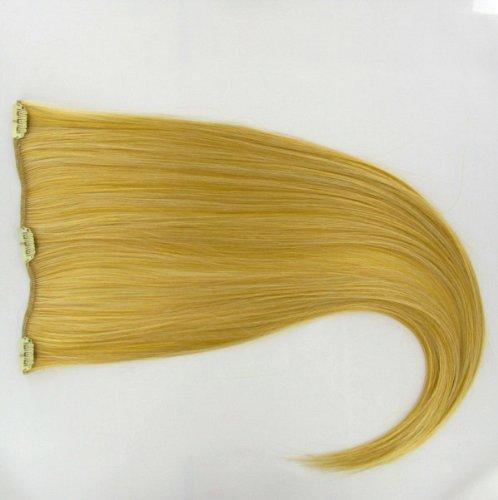 extensions à clip cheveux blond clair doré 60 cm ref: lg26