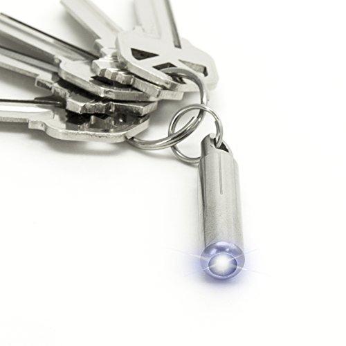 KeySmart Nano Linterna Mundo más pequeño y más Brillante Linterna para tu Llavero