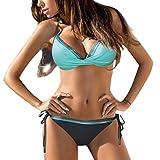 CICIYONER Badeanzüge Frauen Bandeau Bandage Bikini Set Push-Up Brasilianische Badebekleidung Beachwear S-2XL