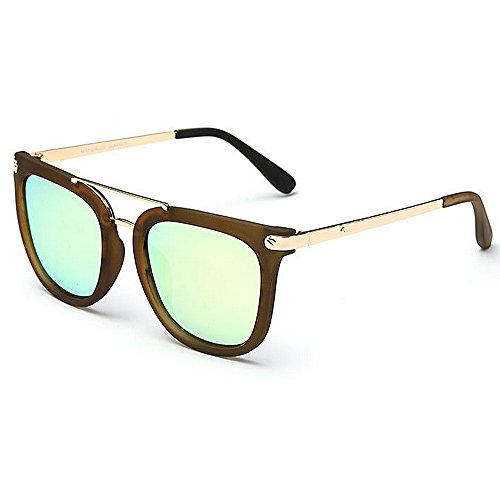 Yiph-Sunglass Sonnenbrillen Mode Vintage Cat Eyes Style Damen polarisierte Sonnenbrille Full Frame umrandeten UV-Schutz Fahren Urlaub Sommer Strand Sonnenbrille (Farbe : Gold)