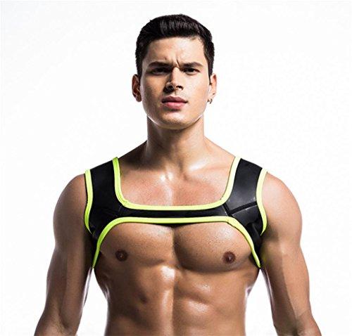 Mens Fitness Schultern Neopren Harness Sport Schulterstützen Hosenträger Schutzausrüstung Fitness Komfortabler,Black,L