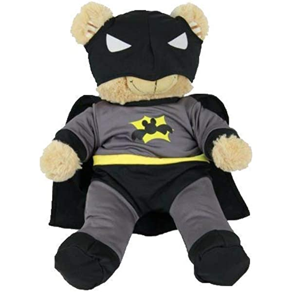 """Bear Icon Hero with Cape T-Shirt Teddy Bear Clothes Fits Most 8/""""-10/"""" Build-a-bea"""