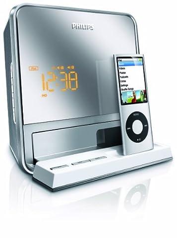 Philips DC190/12 Station d'accueil pour Baladeur mp3 / iPod Tuner FM Argent