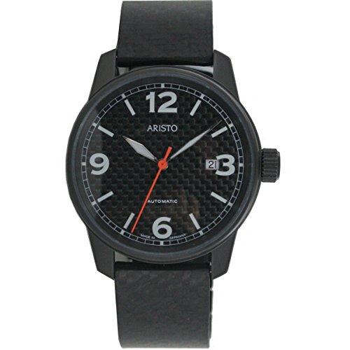 Aristo Reloj de hombre Carbon Reloj Automático Acero inoxidable 0h10