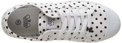 Chocolate Schubar Jack, Sneakers Donna Blanc (dot White)