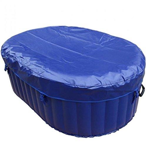AQUAPARX Whirlpool AP-550SPA *oval 190x120cm* Pool 2Personen Wellness Spa Whirlpoolzubehör Badewanne 2P Wanne Indoor Outdoor Heizung aufblasbar - 5