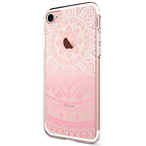 Coque iPhone 7, Spigen® [Liquid Crystal] Ultra-Thin [Shine Pink] Premium Semi-transparent / Exact Fit / NO Bulkiness Soft Coque Pour iPhone 7 (2016) -...
