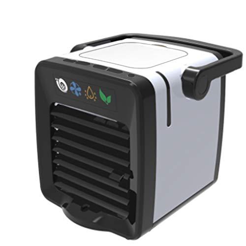 Mobile Klimaanlage Fan, 4 In 1 KlimageräTe Ventilator Luftbefeuchter Luftreiniger Aromatherapie USB Mini PersöNlicher LuftküHler 3 Geschwindigkeiten 7 Farben LED FüR Home Office Draussen