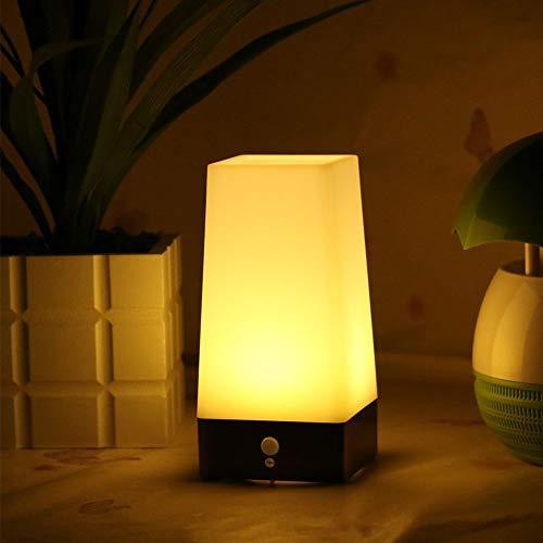 Inalámbrico Pir Sensor Movimiento LED Noche Luz Escritorio Mesa Lámparas Pilas Seguridad Escritorio...